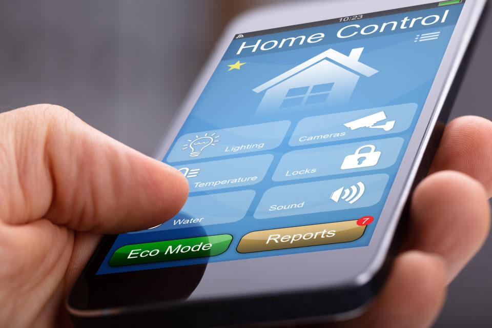 Bedienung Sicherheitsapp Smartphone