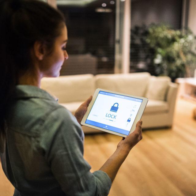 Sicherheitsapp zuhause Tablet