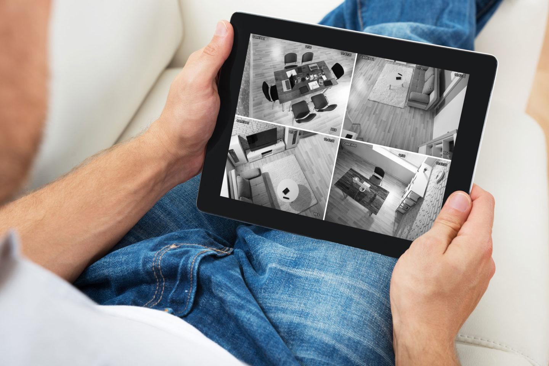 Überwachungskameras Übersicht Tablet